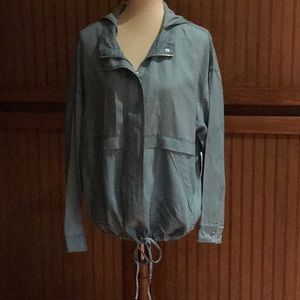 Two By Vince Canute, denim jacket/hood size M